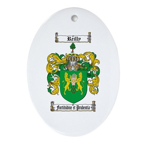 Reilly Coat of Arms Oval Ornament