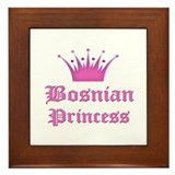 Bosnian Princess Framed Tile