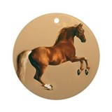 Palomino stallion, horse art. Ornament (Round)