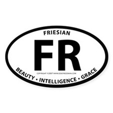 "Friesian ""FR"" Oval Decal"