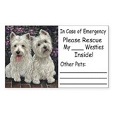 Nat'l Westie Rescue Misc. Ite Sticker (Rectangular