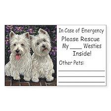 Nat'l Westie Rescue Misc. Ite Sticker (Rectangular