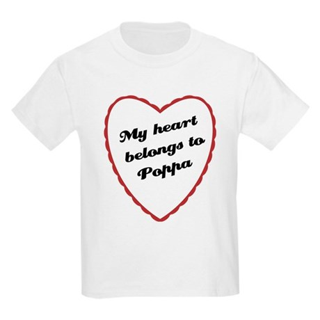 My Heart Belongs to Poppa Kids Light T-Shirt