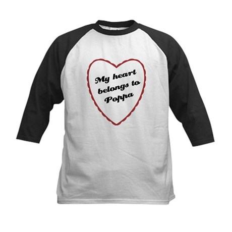 My Heart Belongs to Poppa Kids Baseball Jersey