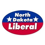 North Dakota Liberal Car Sticker