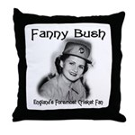 Fanny Bush Cricket Fan Throw Pillow
