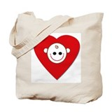 Baby Love Heart Tote Bag