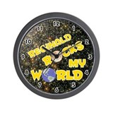 Reginald Rocks My World (Gold) Wall Clock