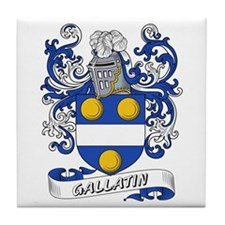 Gallatin Coat of Arms Tile Coaster