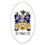 Regan Family Crest Oval Decal