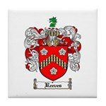Reeves Family Crest Tile Coaster
