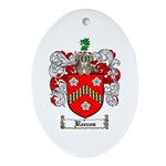 Reeves Family Crest Oval Ornament