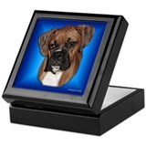 Boxer Keepsake Box (soft ear)