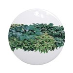 Hosta Clumps Ornament (Round)
