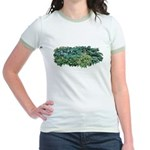 Hosta Clumps Jr. Ringer T-Shirt