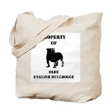 Cute English bull Tote Bag