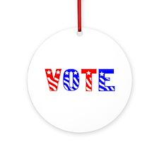 Vote Ornament (Round)