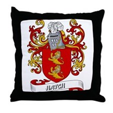 Hatch Coat of Arms Throw Pillow