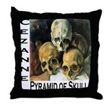 Pyramid of Skulls Throw Pillow