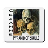 Pyramid of Skulls Mousepad