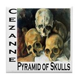 Pyramid of Skulls Tile Coaster