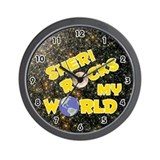 Sheri Rocks My World (Gold) Wall Clock