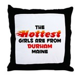 Hot Girls: Durham, ME Throw Pillow