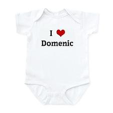 I Love Domenic Infant Bodysuit