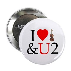 I LUV Violin and U 2 Button