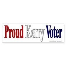 Proud Kerry Voter Bumper Bumper Sticker