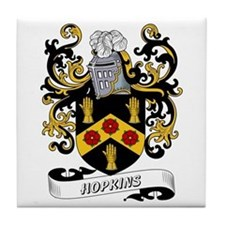 Hopkins Coat of Arms Tile Coaster