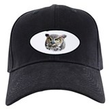Great Horned Owl Face Baseball Hat