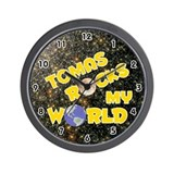 Tomas Rocks My World (Gold) Wall Clock
