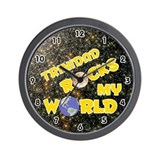 Trinidad Rocks My World (Gold) Wall Clock