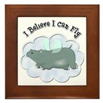 Flying Hippo Framed Tile