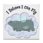 Flying Hippo Tile Coaster