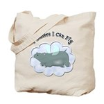 Flying Hippo Tote Bag