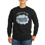 Flying Hippo Long Sleeve Dark T-Shirt