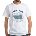 Flying Hippo White T-Shirt