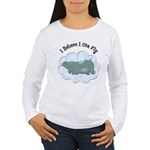 Flying Hippo Women's Long Sleeve T-Shirt