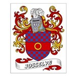 Josselyn Coat of Arms Small Poster