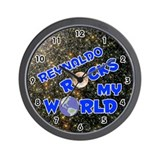 Reynaldo Rocks My World (Blue) Wall Clock