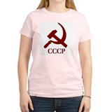 CCCP Hammer & Sickle Women's Pink T-Shirt