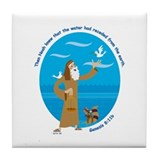 Noah and the Dove Tile Coaster