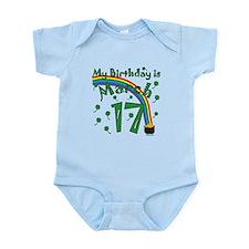 St. Patrick's Day March 17th Birthday Infant Bodys