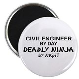 Civil Engineer Deadly Ninjs Magnet