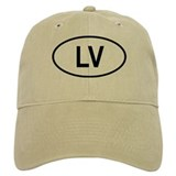 Latvia Oval Baseball Cap