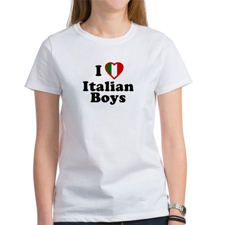 I Love Italian Boys Womens T-Shirt