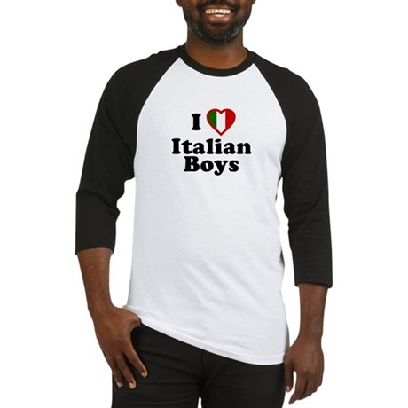 I Love Italian Boys Baseball Jersey