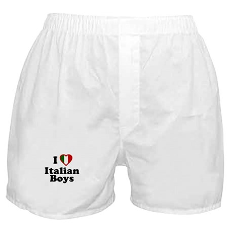 I Love Italian Boys Boxer Shorts